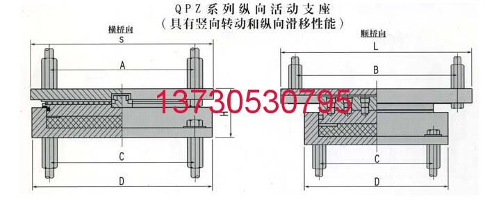 QPZ减隔震盆式橡胶支座QPZ减隔震盆式橡胶支座 纵向活动支座(ZX)国标现货