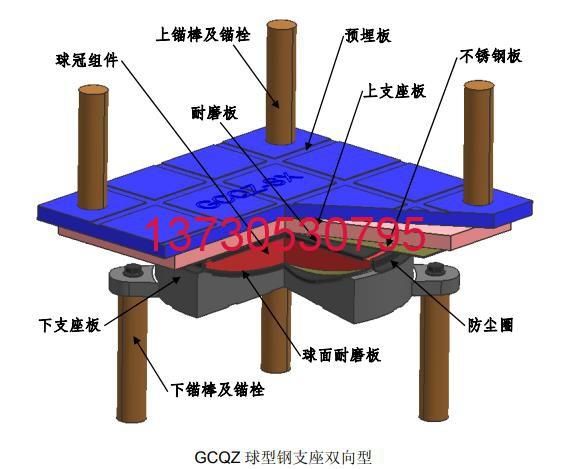 GCQZ系列球型钢支座LNR系列橡胶支座水平力分散型橡胶支座 GB 20688.2-2006厂家直销13730530795