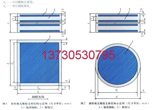 普通板式橡胶支座 氯丁橡胶支座 四氟乙烯滑板式橡胶支座选科运橡塑13730530795